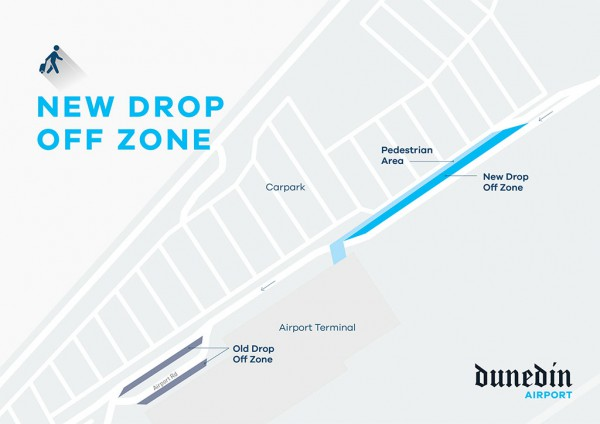 dunedin airport drop off zone map